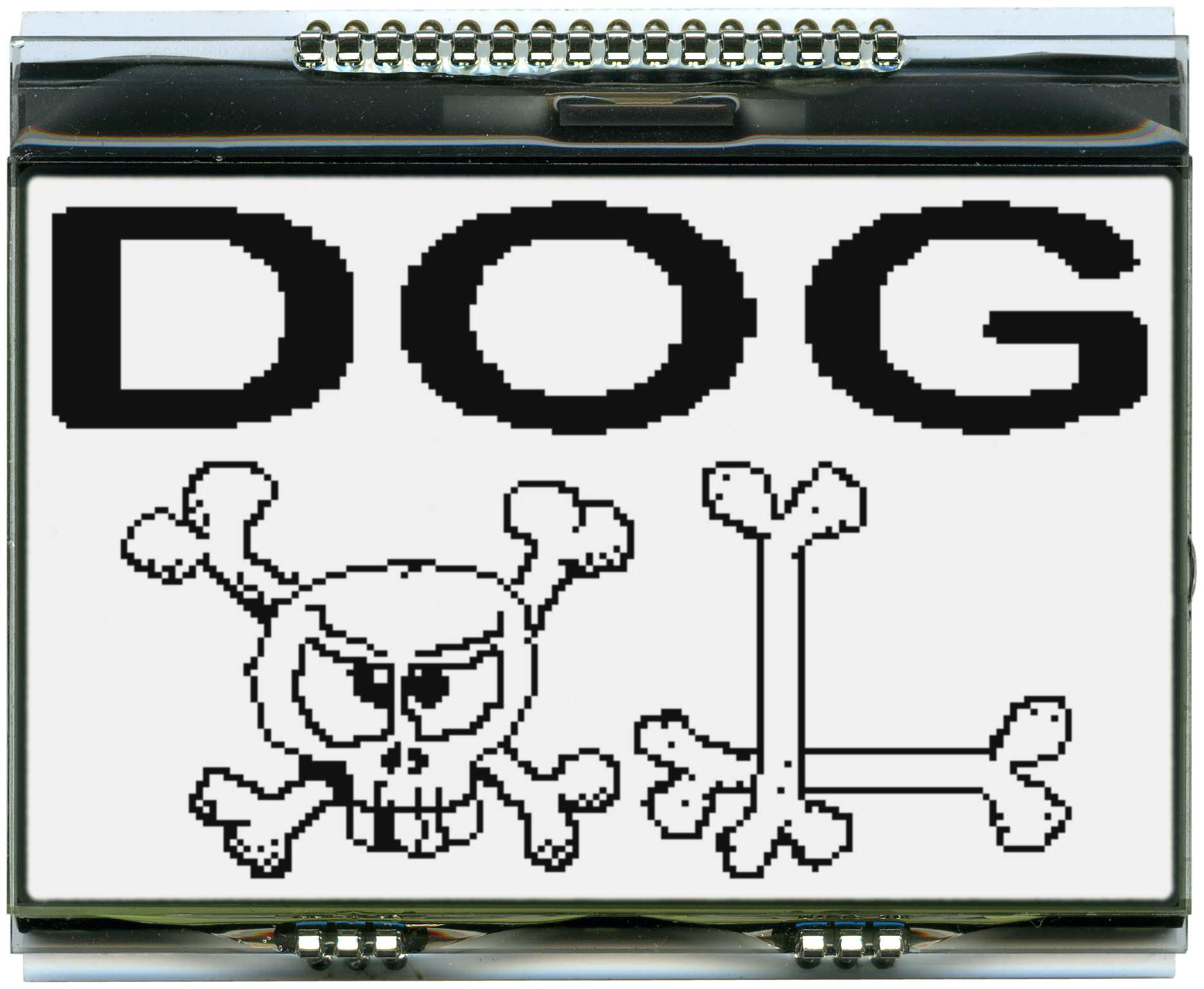 160x104 DOG Grafikdisplay, FSTN weiss