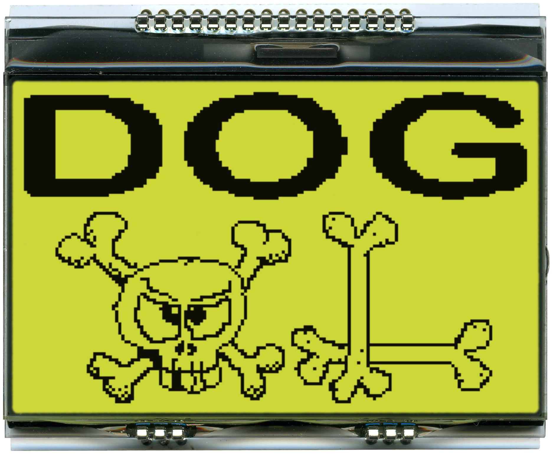 160x104 DOG Grafikdisplay, STN gelb/grün