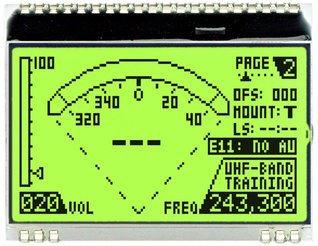 128x64 DOG Grafikdisplay, STN gelb/grün