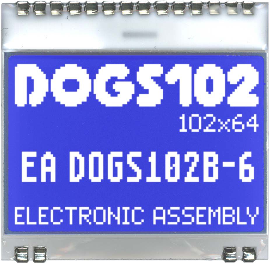 102x64 DOG Grafikdisplay, STN blau negativ