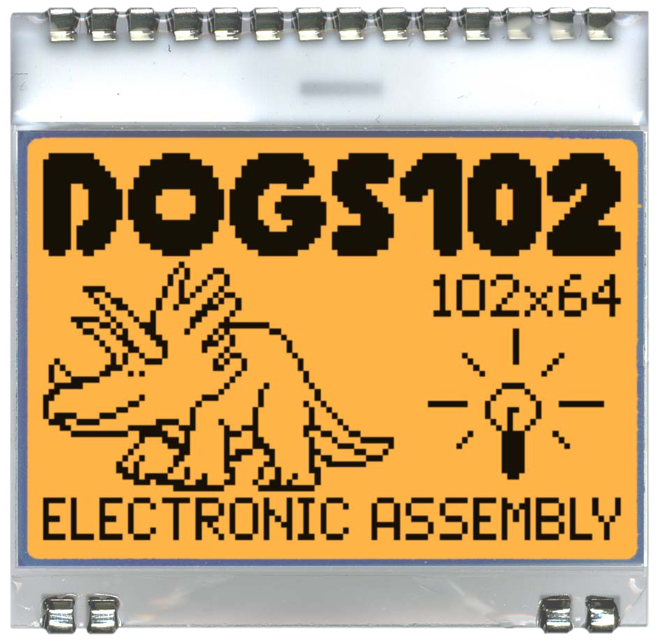 102x64 DOG Grafikdisplay, FSTN weiss