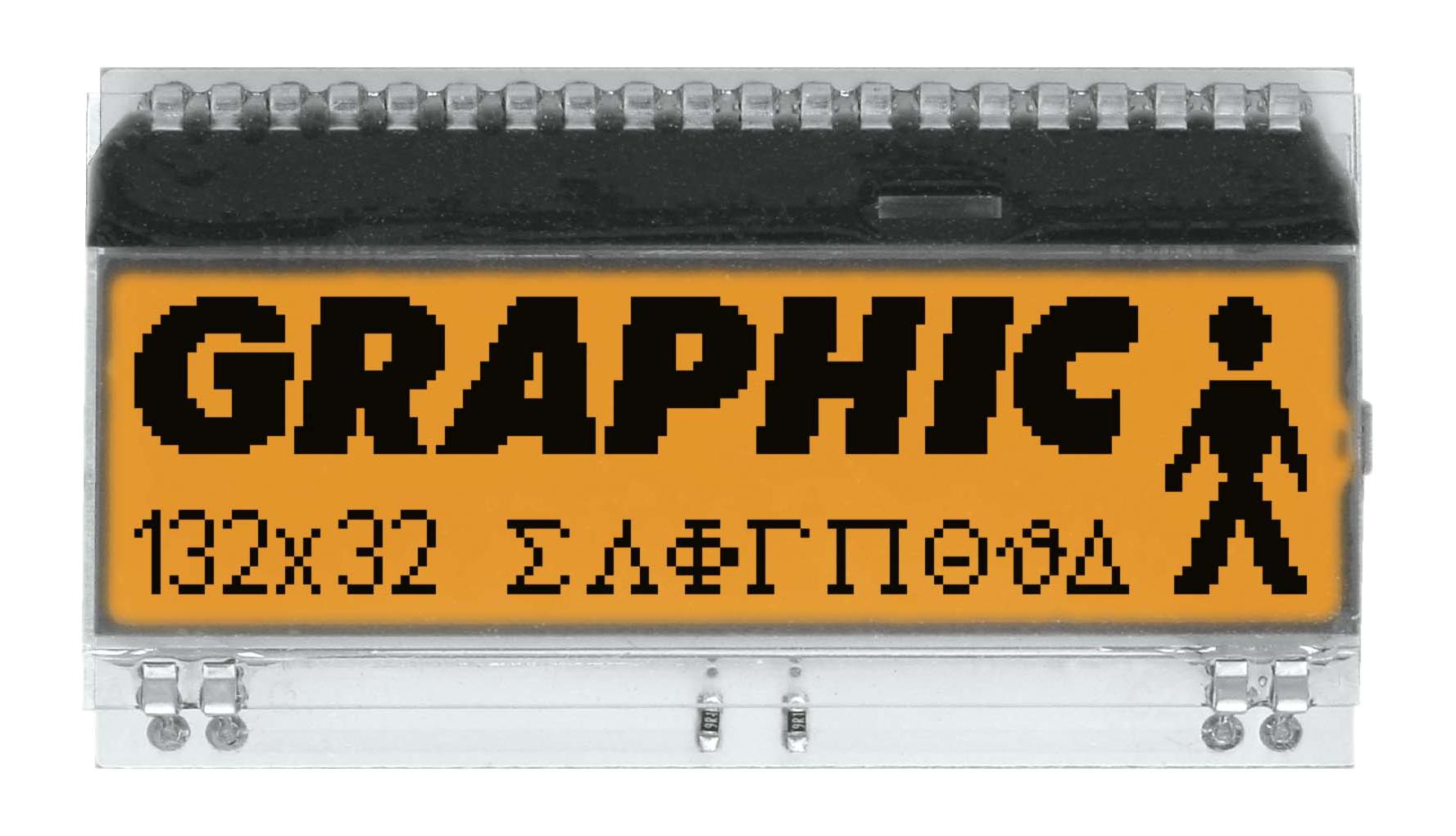 132x32 DOG Grafikdisplay, FSTN weiss