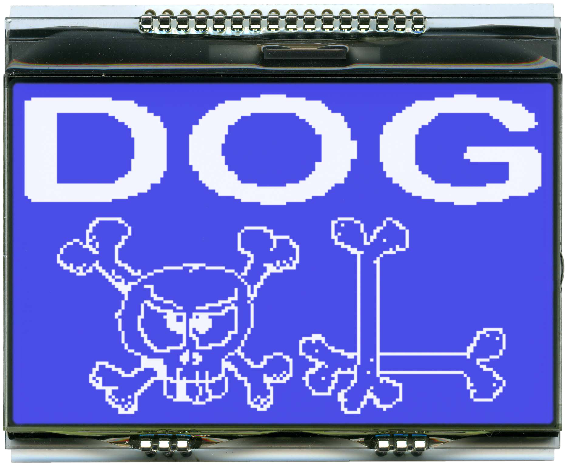 160x104 DOG Grafikdisplay, STN blau negativ