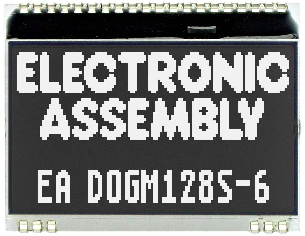 128x64 DOG Grafikdisplay,  FSTN schwarz negativ