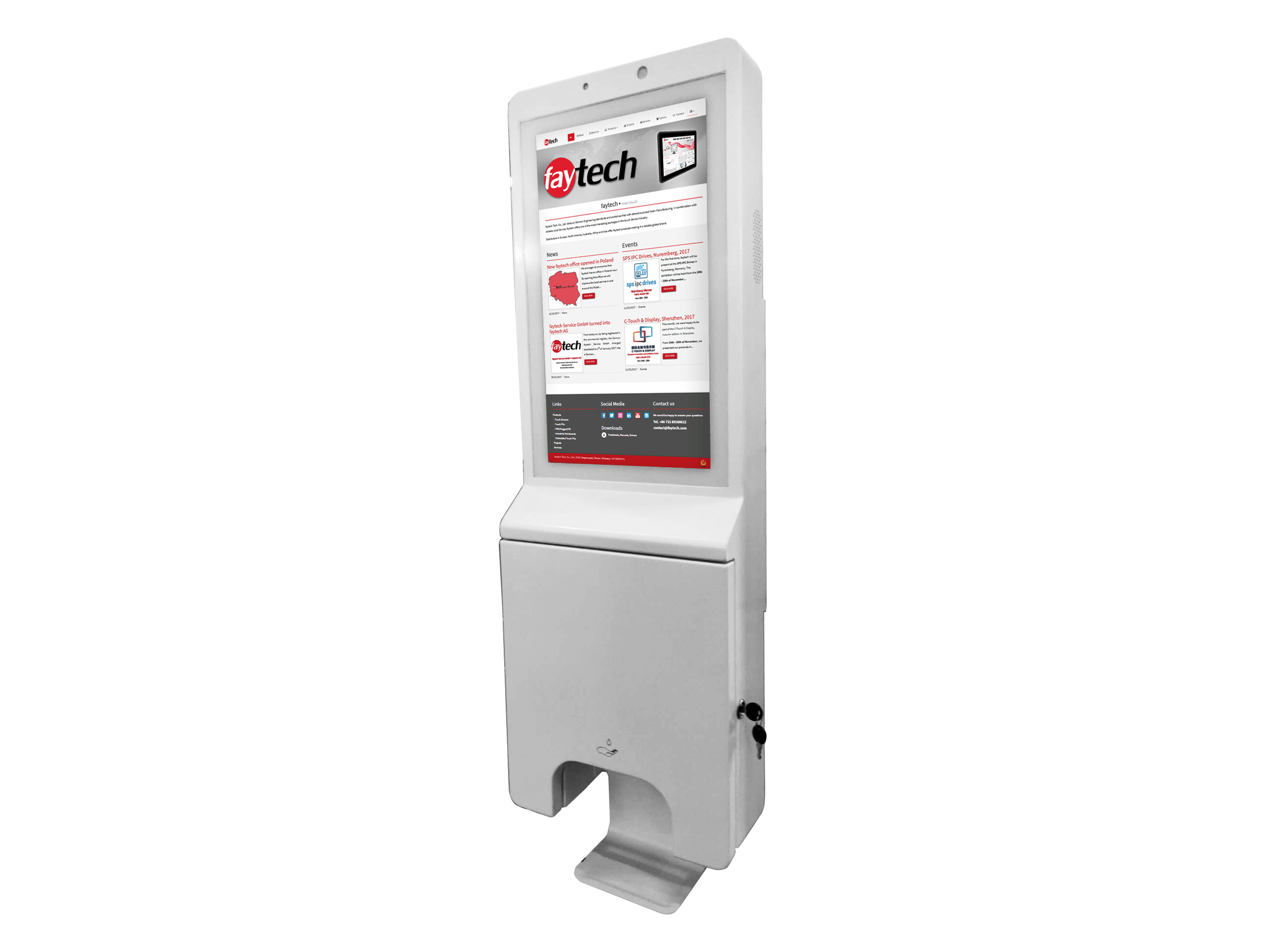 Digital Signage Hygiene Station (Display)