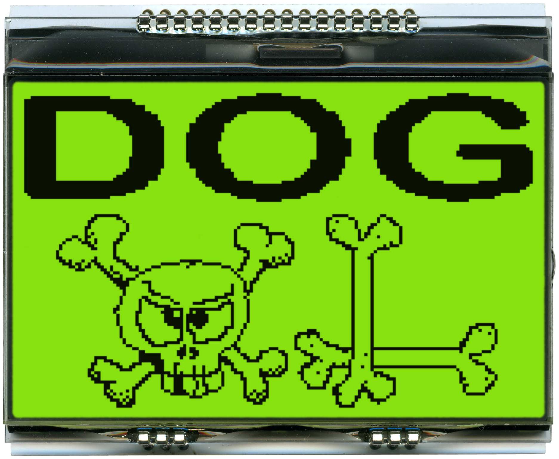160x104 DOG Grafikdisplay, FSTN gelb/grün