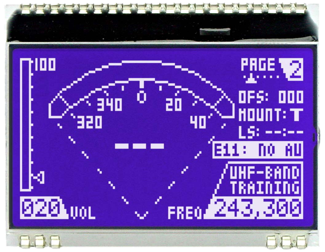 128x64 DOG Grafikdisplay, STN blau negativ