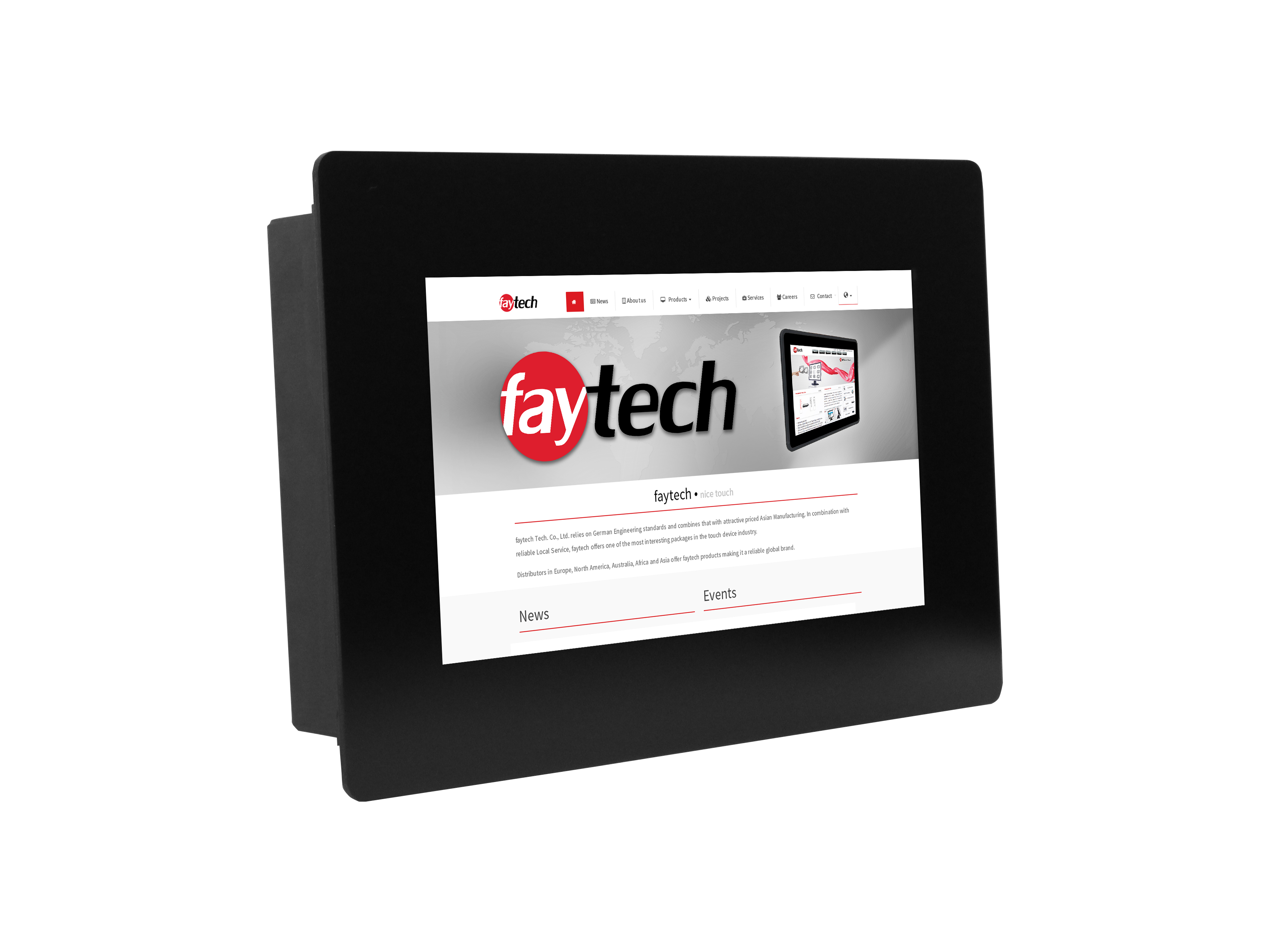 """7"""" open Frame pcap Touch Monitor HighBright"""