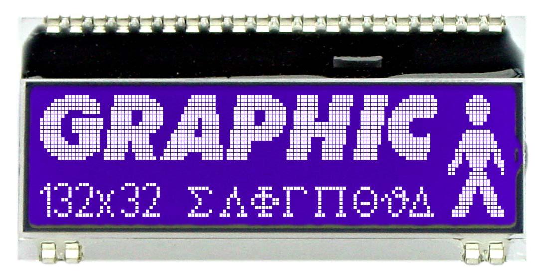 132x32 DOG Grafikdisplay, STN blau negativ
