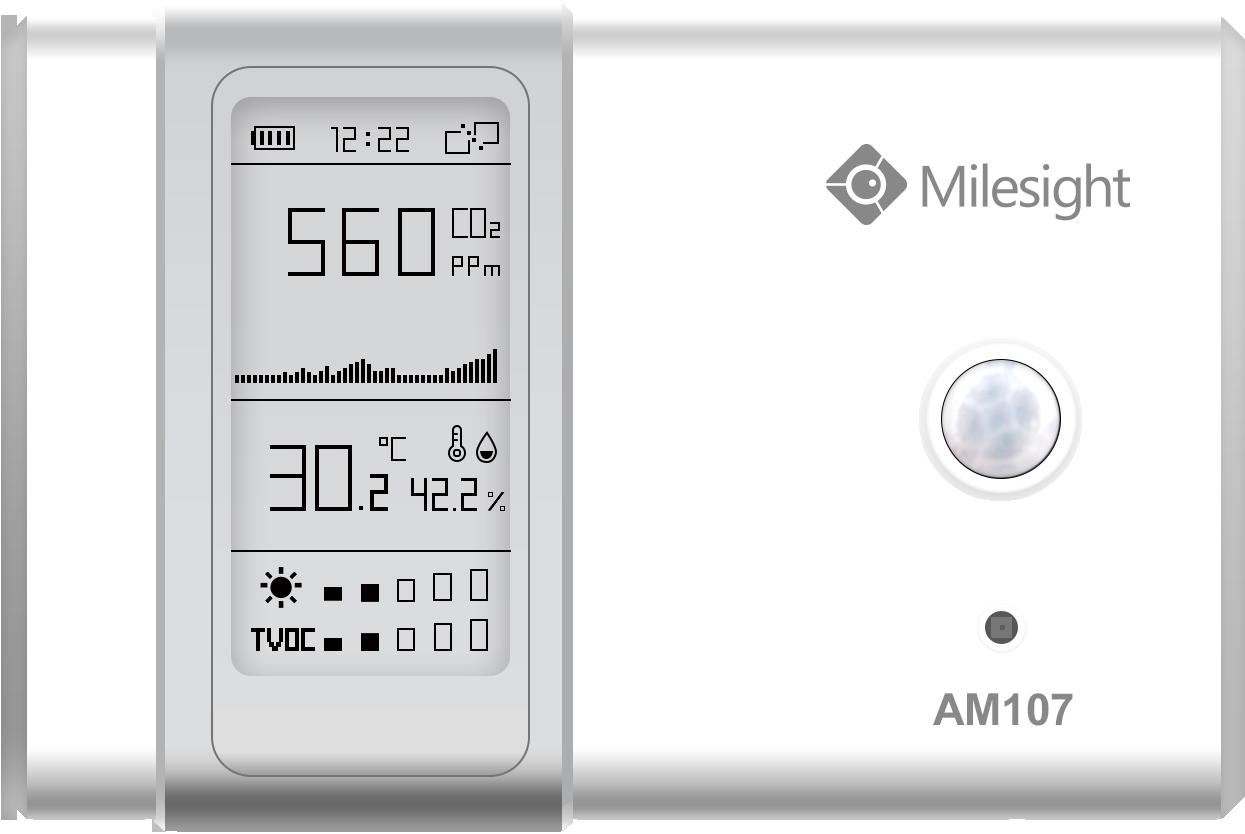 Milesight IoT AM 107 E-Ink Indoor Sensor LoRaWAN Co2 TVOC